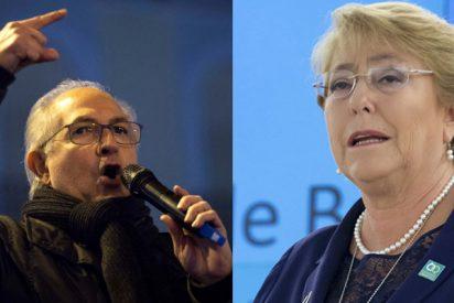 """El 'recadito' de Antonio Ledezma a Michelle Bachelet: """"No se deje secuestrar por las mafias de Maduro"""""""