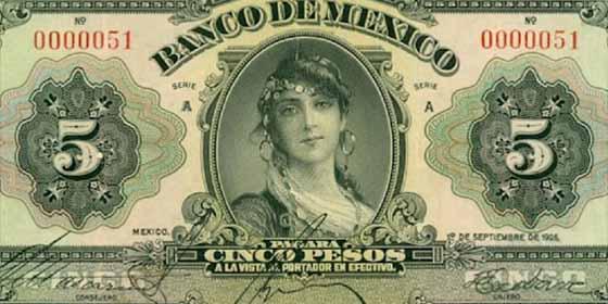 """""""Gloria, la gitana"""": La historia de la española inmortalizada como el primer rostro femenino en un billete de México"""