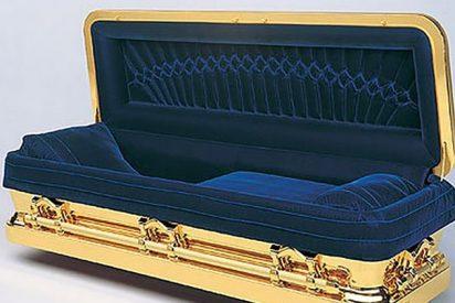 """""""Prometeo"""": Así es el ataúd cubierto de oro en el que fue enterrado Michael Jackson"""