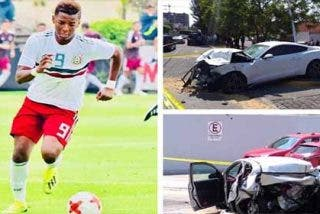 El instante preciso del accidente del jugador del Sevilla Joao Maleck en el que murió una pareja de recien casados