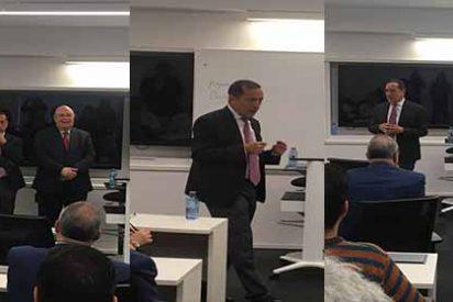 El economista y diputado venezolano José Guerra en el IE Business School en Madrid