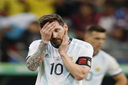 La Argentina de Messi la 'caga' ante Colombia en la Copa América (0-2)