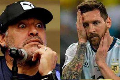 Copa América: Maradona explota contra Messi y toda la selección: