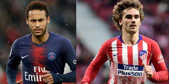 Neymar y Griezmann.