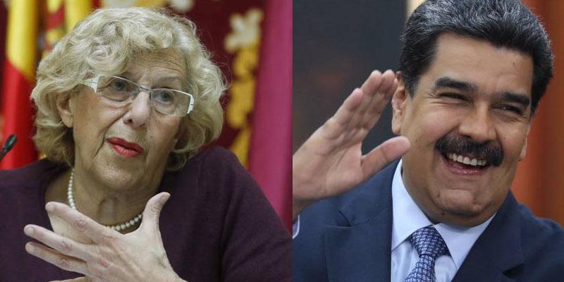 Carmena se retrata como una bolivariana con su emotiva despedida al embajador de Maduro y su 'comunista silencio' hacia el enviado de Guaidó