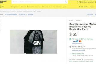 Hacen falsificaciones de los distintivos y uniformes de la Guardia Nacional mexicana y los venden online