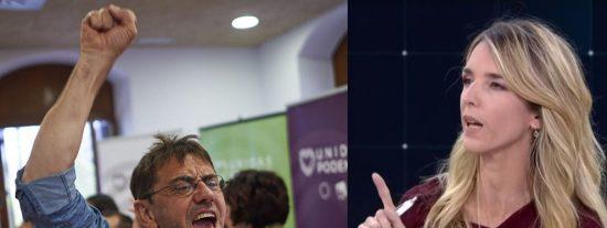 """Monedero acusa a Juan Guaidó de """"ladrón"""" y Cayetana le calla la boca en cinco segundos"""