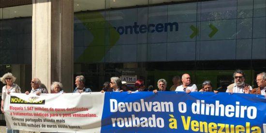 'Zasca' a la ridícula protesta chavista contra Novo Banco por bloquear el dinero de la dictadura venezolana