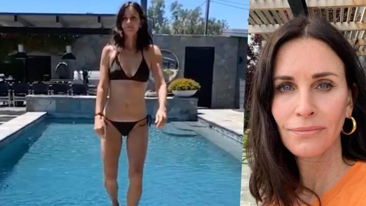 Courteney Cox, Mónica en Friends, muestra su atractivo con un vídeo en bikini a los 55 años