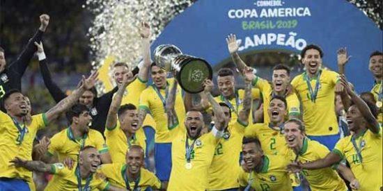 Brasil le ganó 3-1 a Perú con polémica arbitral y se coronó campeón de la Copa América