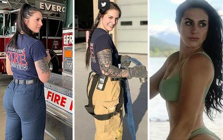 """El cuerpo de bomberos la discriminó por su """"débil cuerpo"""", pero rescató a sus compañeros en un terrible incendio"""