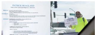Fotos: Encontró empleo luego de repartir copias de su currículum en un semáforo