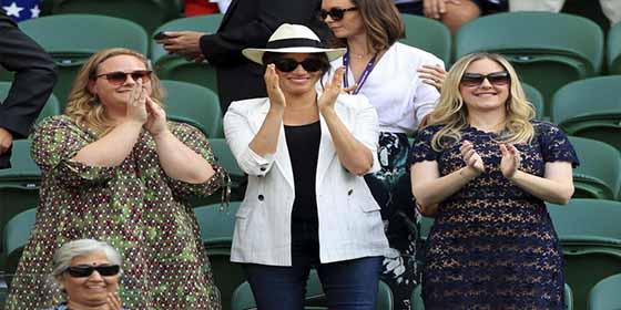 "Despellejan viva a Meghan Markle por ir de ""diva suprema"" en un partido de Wimbledon"