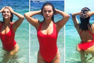 """Selena Gomez: Ésta es su sensual foto al estilo Pamela Anderson en """"Baywatch"""""""