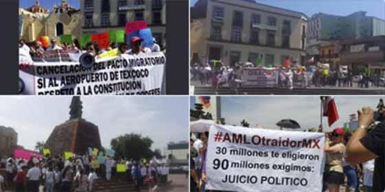 """El descontento social en las calles de México contra López Obrador, el """"error electoral"""""""