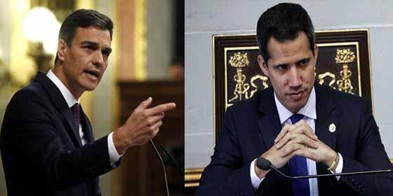 La TVE de Sánchez y Rosa María Mateo menosprecia a Guaidó y no lo reconoce como presidente venezolano