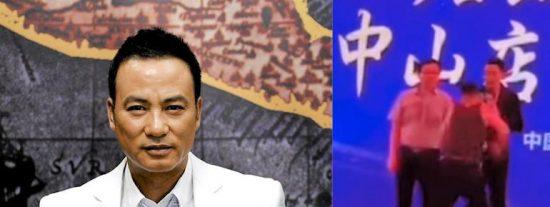 Vídeo: Un espontáneo apuñalan a un reconocido actor chino durante un acto público