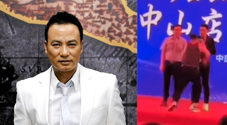 Vídeo: Un espontáneo apuñala a un reconocido actor chino durante un acto público