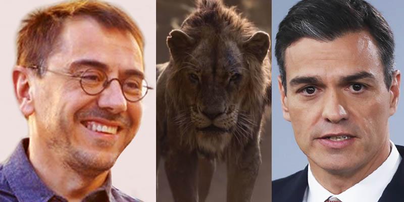 La nueva teoría conspirativa de 'El Rey León' que le suelta un tremendo zarpazo a Juan Carlos Monedero y Pedro Sánchez