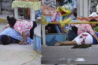 Carrusel mortal: sicarios tirotean a una vendedora de mazorcas y a una niña de 3 años