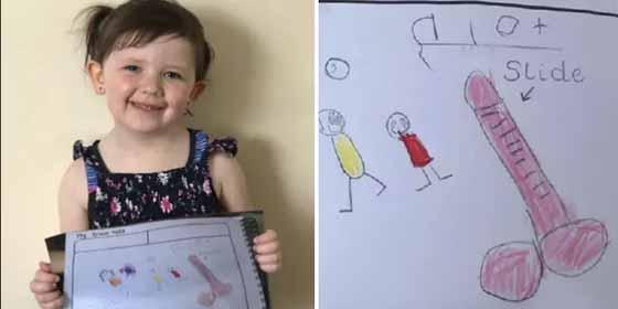 El extraño dibujo de una niña hizo que la escuela pidiera explicaciones a la madre