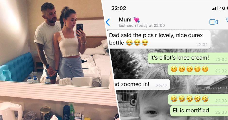 Una traviesa hija manda una foto a sus padres pero se le escapó un peligroso detalle