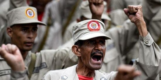 Tronchante vídeo: el patético entrenamiento de las milicias chavistas para frenar al ejército de EE.UU.