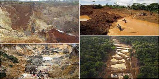 """El crimen ambiental que el """"indignado"""" régimen chavista comete en el 'Arco Minero', la zona venezonala de la Amazonía"""