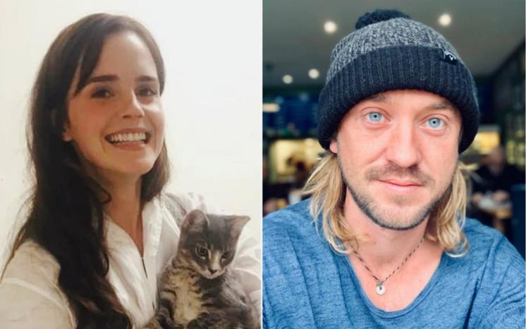 Fans de 'Harry Potter' enloqucen con la foto de Emma Watson en pijama acompañada por Tom Felton