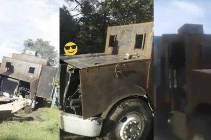 """Vídeo: Narco mexicano se queda sin """"El Monstruo"""", camión modificado para soportar los ataques de """"El Mencho"""""""