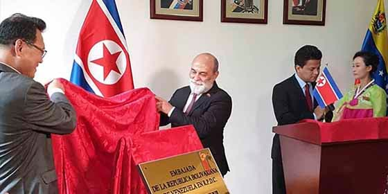 La dictadura chavista inauguró embajada en Corea del Norte: ¿Ruta de escape?