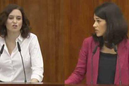 """Díaz Ayuso arrasó con la moral de la podemita Isa Serra """"Va a dar lecciones una imputada por desórdenes públicos"""""""