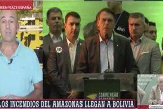 Así manipulan laSexta y el portavoz de 'Greenpeace' contra Bolsonaro porque no es ambientalista ni de izquierda