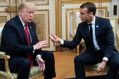 El ridículo de Macron en el G-7: amenaza a Bolsonaro pero se baja los pantalones ante Trump