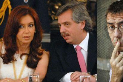 Hasta el alma por un nuevo chiringuito: Monedero se arrastra ante su 'próximo jefe', el títere de Kirchner, durante su viaje por Madrid