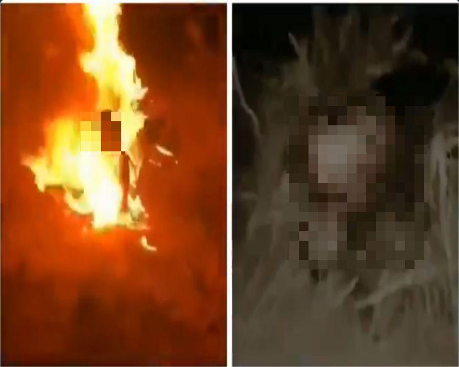Vídeo: Narcos queman vivo a joven para demostrar que dominan esa zona de México