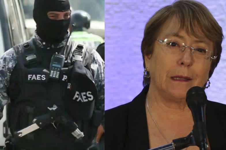 """Bachelet completa su informe sobre Venezuela: """"Seguimos registrando ejecuciones extrajudiciales del FAES"""", el escuadrón de la muerte de Maduro"""