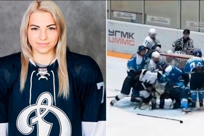 Vídeo: La espectacular y violenta pelea masiva de rusas en el hockey sobre hielo femenino