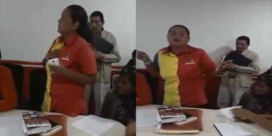 Este vídeo no lo tuiteará Monedero: Una 'camarada' desencantada denunció la corruptela en las cárceles de la dictadura de Nicolás Maduro