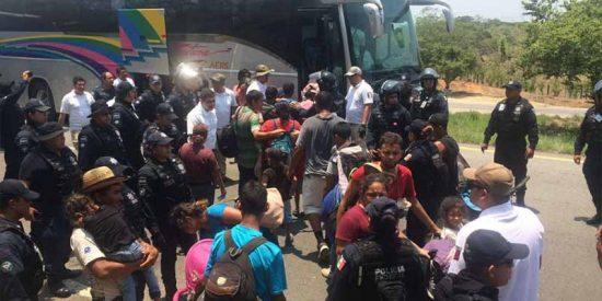 El Muro de López Obrador: detienen a tres autobuses con 195 migrantes ilegales que iban a EEUU