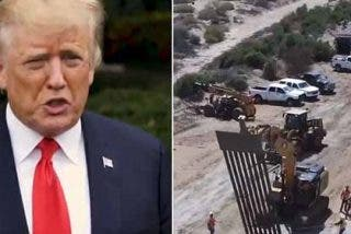 El vídeo de Trump para advertir a los migrantes que continuará construyendo su muro: Más alto y más largo
