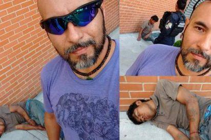 Knockea al ladrón de su bicicleta y espera a la policía tomándose 'selfies' con el delincuente inconsciente
