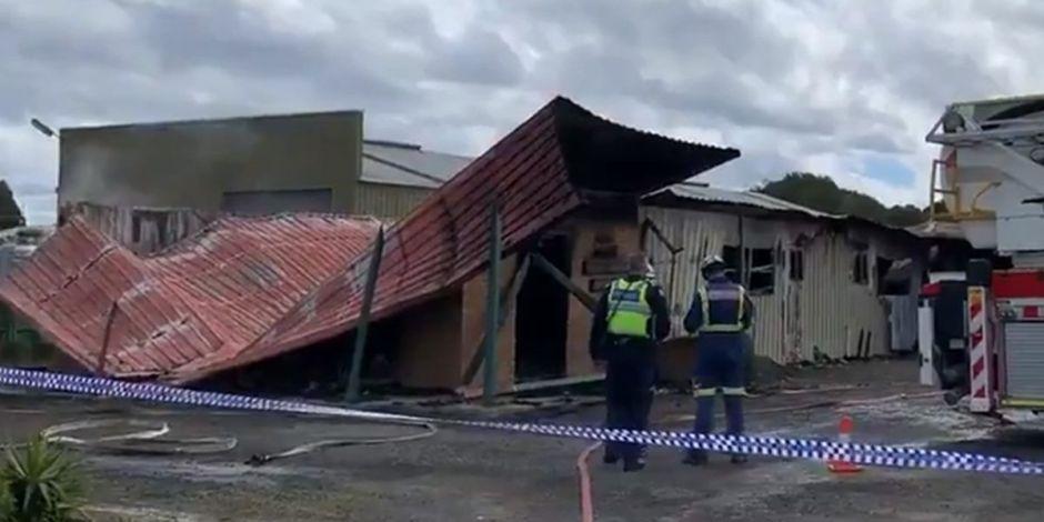 El bukkake más grande de Australia: Un incendio genera una gran explosión en una clínica de inseminación