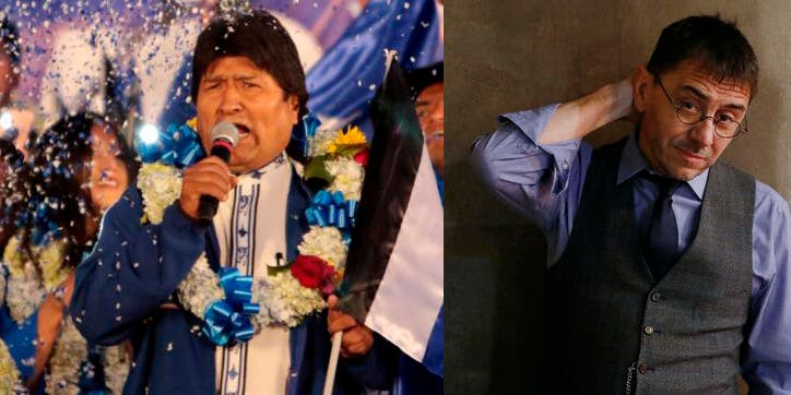 """Monedero aplaude el fraude electoral de Evo Morales y lo zarandean en Twitter: """"Te gusta el hambre, la persecución, el Gulag y la muerte"""""""