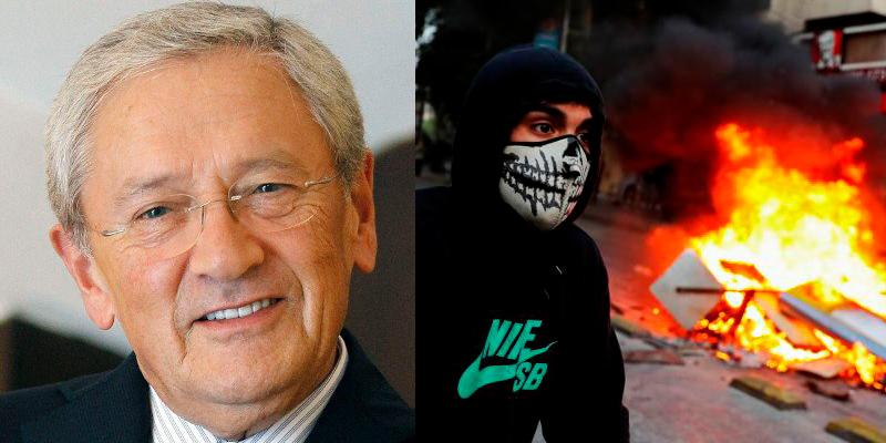 """Ónega compra el discurso de los comunistas violentos de Chile: """"arde Santiago de Chile, quizá con razón..."""""""