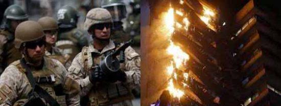 La violencia se apodera de Chile: Manifestaciones delictivas y represión militar en las calles