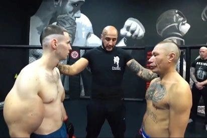 Ridículo monumental del 'Popeye ruso' en el MMA: Debuta con sus músculos falsos y pierde con un rival 20 años más viejo