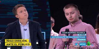 Un estudiante de matemáticas enseña a Ana Pastor a hacer periodismo y pone a Íñigo Errejón a mentir como un bellaco