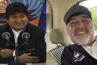 """Maradona felicita a Evo Morales y en las redes entienden sus vínculos: """"Así agradece el cargamento de cocaína que le enviaste"""""""