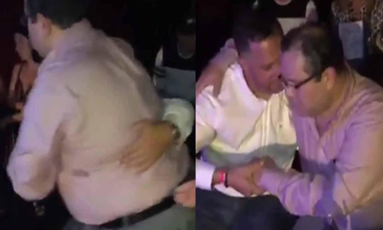 """""""Pa fuera como la basura"""": Así expulsan a un juez chavista borracho como una cuba de un teatro en Miami... y tomando 'Johnnie Walker Blue Label'"""